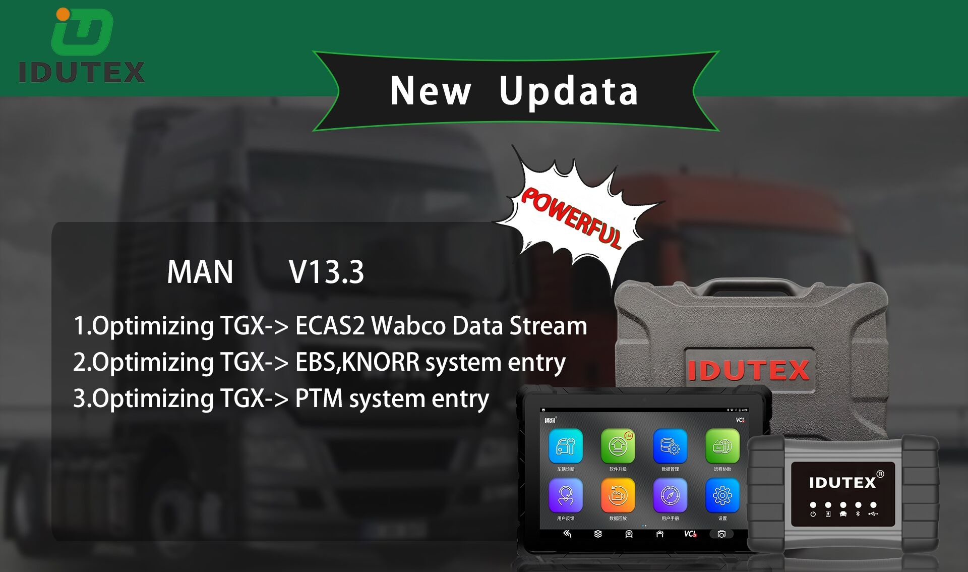 IDUTEX TS910 Auto Smart Diagnostic Platform