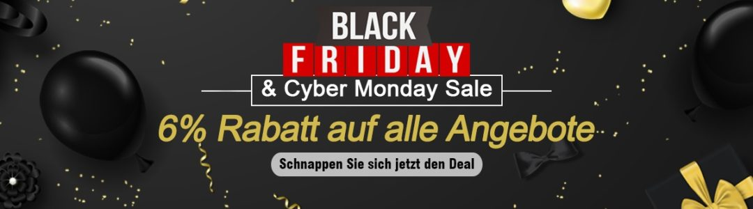 Black Friday 6% OFF