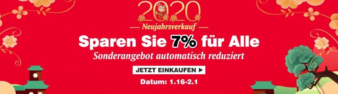 2020 7% Rabatt