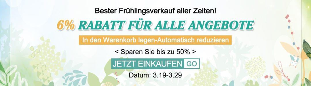 Spring Sale 6% Off