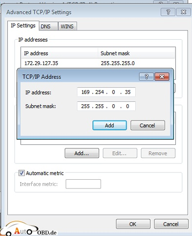 Set the IP to 169.254.0.35